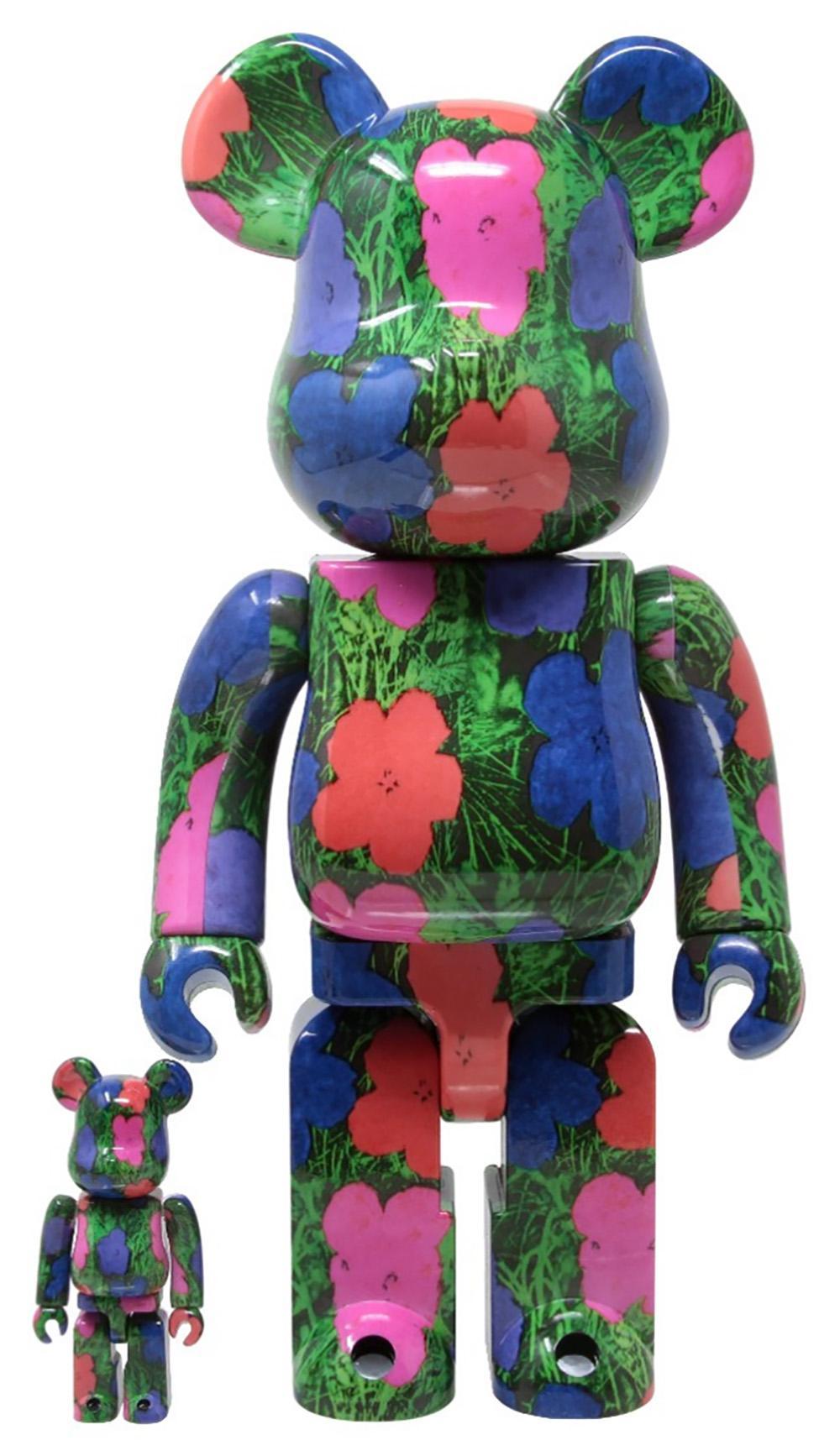 Andy Warhol Flowers Bearbrick 400% Companion (Warhol BE@RBRICK 400%)