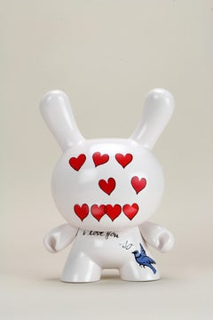"""Andy Warhol Foundations Kid Robot  """"I Love You So"""" Dunny  SET OF TEN !"""