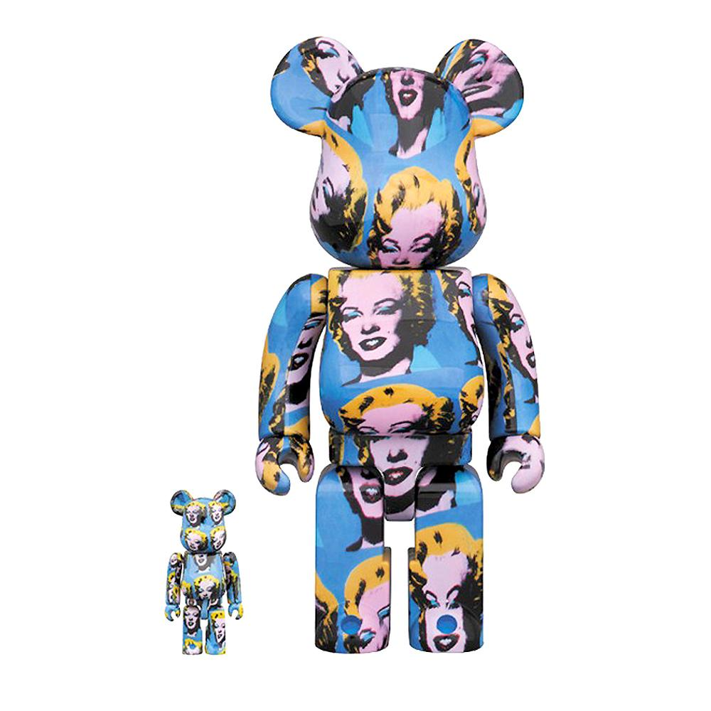 BEARBRICK ANDY WARHOL MARILYN 400% & 100% Medicom Toy Japan Vinyl figure POP ART