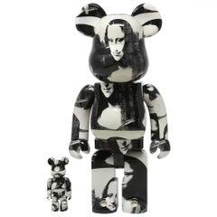 BEARBRICK: ANDY WARHOL - MONA LISA 400% & 100% Medicom Toy Japan, Vinyl figure