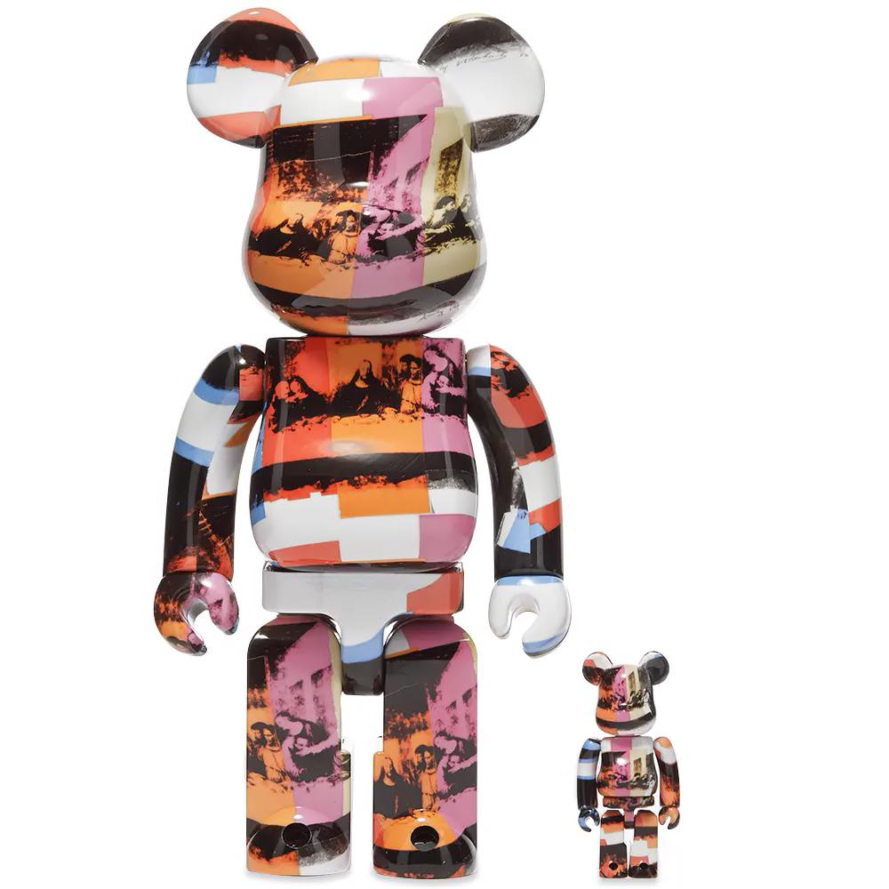 BEARBRICK: ANDY WARHOL THE LAST SUPPER 400% &100% Medicom Toy Japan Vinyl figure