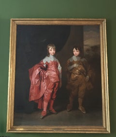 Double Portrait Oil Painting Brothers George, 2nd Duke Buckingham & Lord Francis