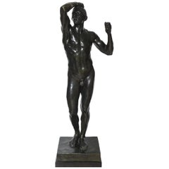 After Auguste Rodin Bronze Sculpture of the Age of Bronze Male Nude Figure