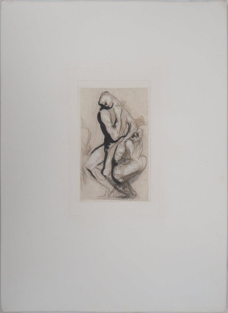 Men's Group (Le Penseur) - Etching, 1897 - Print by (after) Auguste Rodin