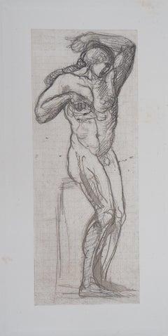 Naked Man - Etching, 1897