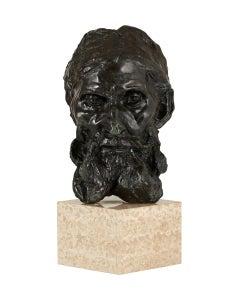 Head of Eustache de Saint Pierre - Bronze cast Sculpture edition of 11 modern