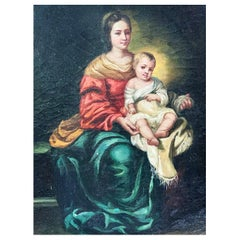 "After Bartolomé Esteban Murillo ""Virgin and Child"" 17th Century Style"