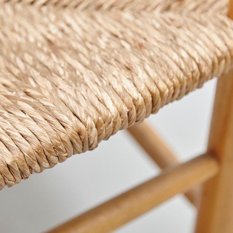 Mid-20th Century After Charlotte Perriand Mid-Century Modern Rattan Pair of Chairs, circa 1950