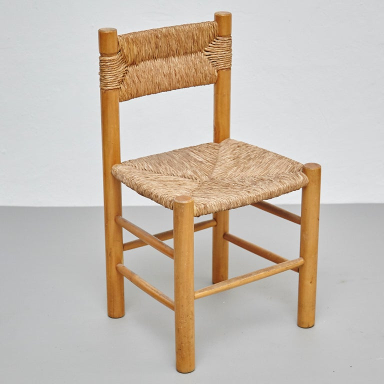 After Charlotte Perriand Mid-Century Modern Rattan Pair of Chairs, circa 1950 3