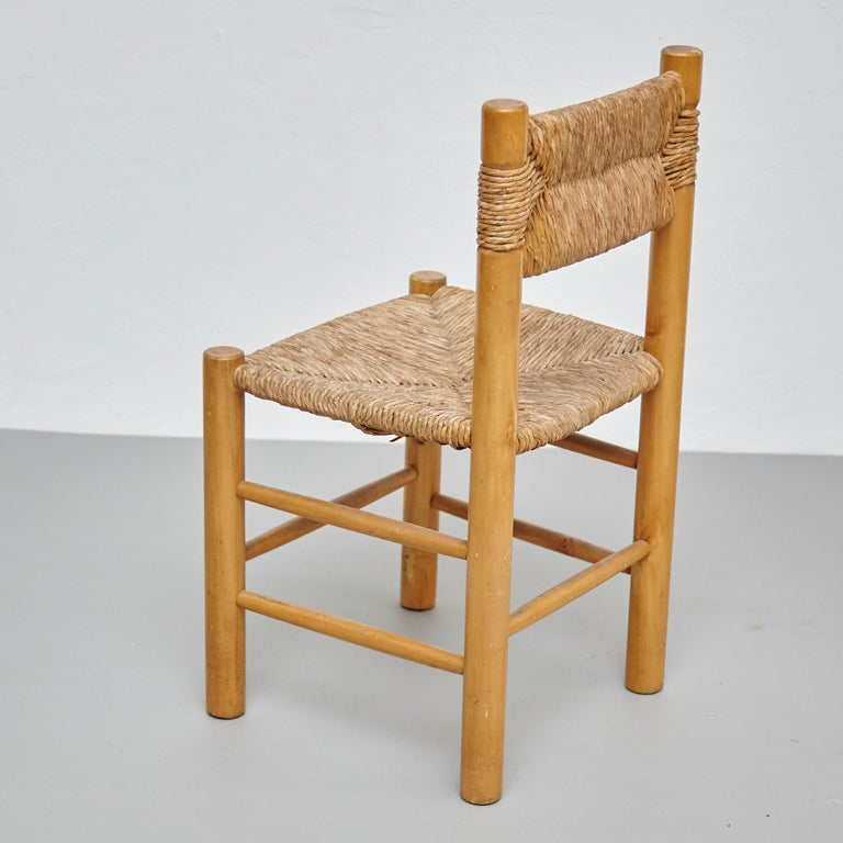 After Charlotte Perriand Mid-Century Modern Rattan Pair of Chairs, circa 1950 4