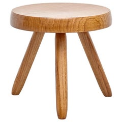 After Charlotte Perriand, Mid-Century Modern Wood Stool