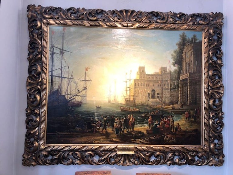 After Claude Lorraine (1600-1682) Claude Lorrain born c. (1600 – 23 November 1682) was a French painter, draughtsman and etcher of the Baroque era. He spent most of his life in Italy, and is one of the earliest important artists, apart from his