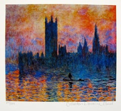 Claude Monet Houses Of Parliament Estate Signed & Stamped Limited Edition