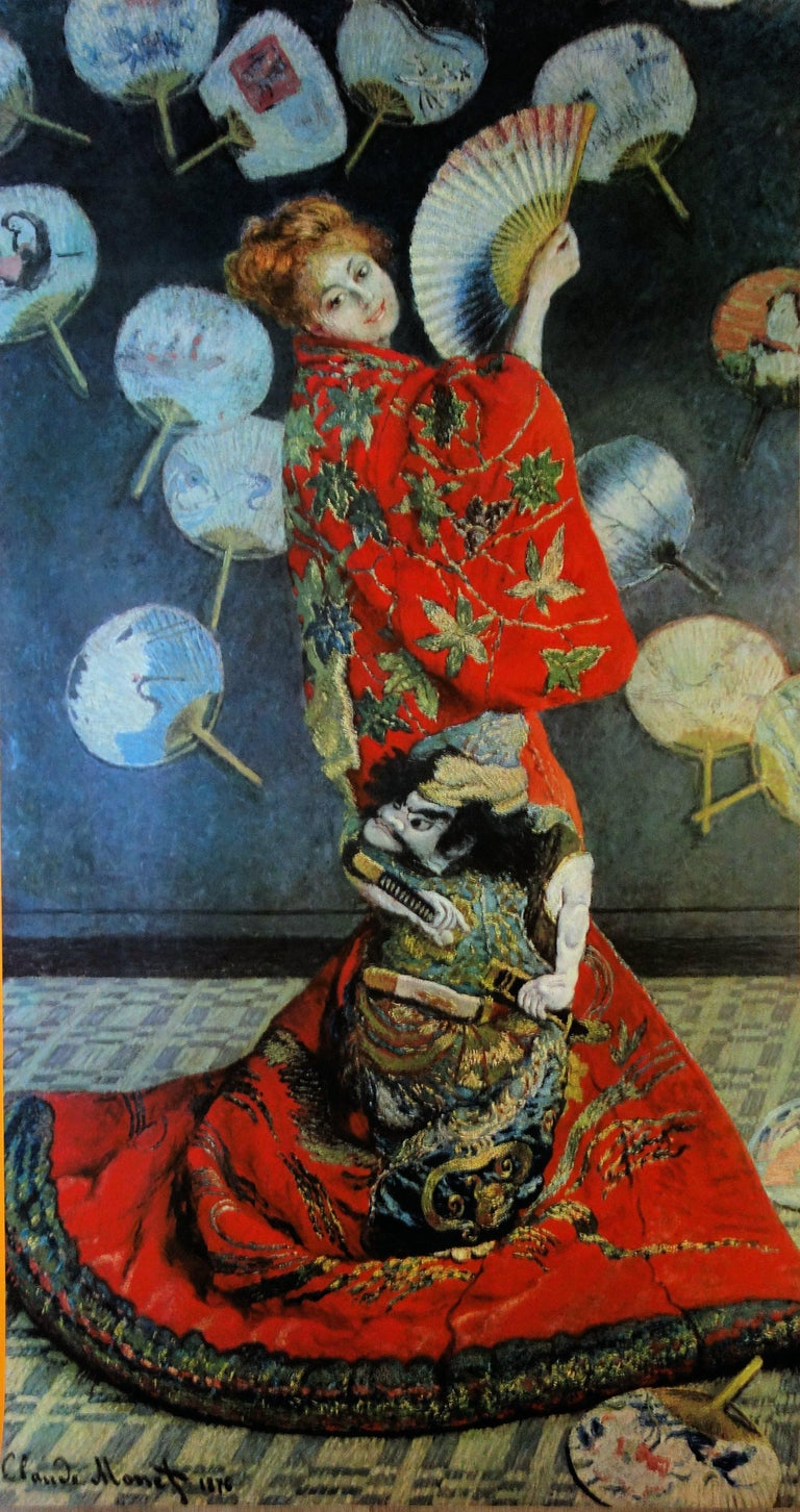 Woman with the Fan - Vintage exhibition poster - 1972 - Impressionist Print by (after) Claude Monet