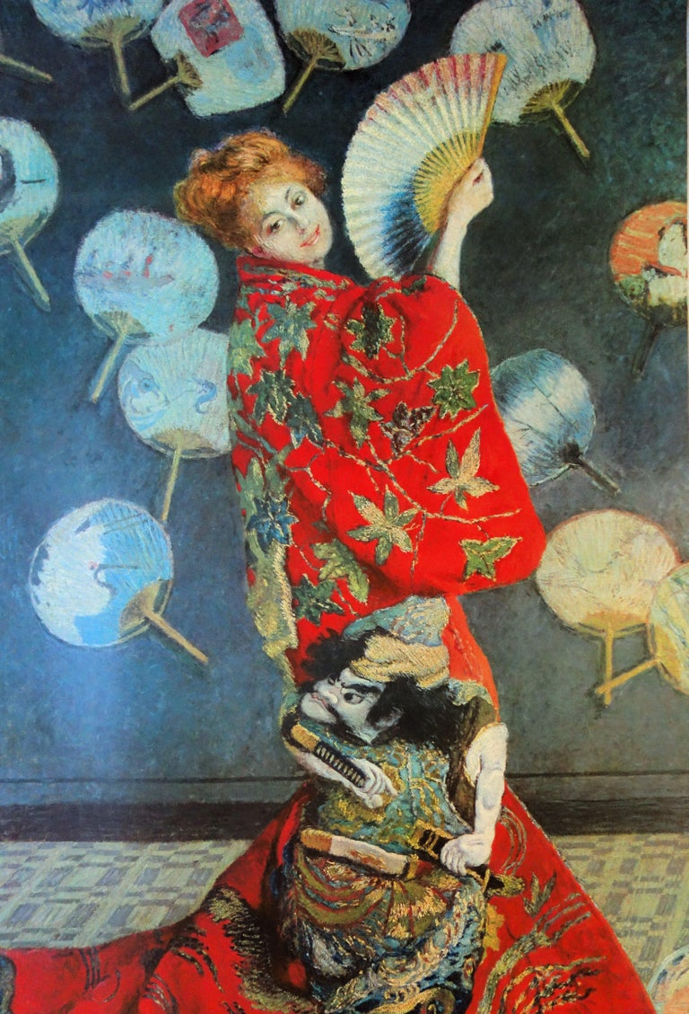 Woman with the Fan - Vintage exhibition poster - 1972 - Gray Figurative Print by (after) Claude Monet