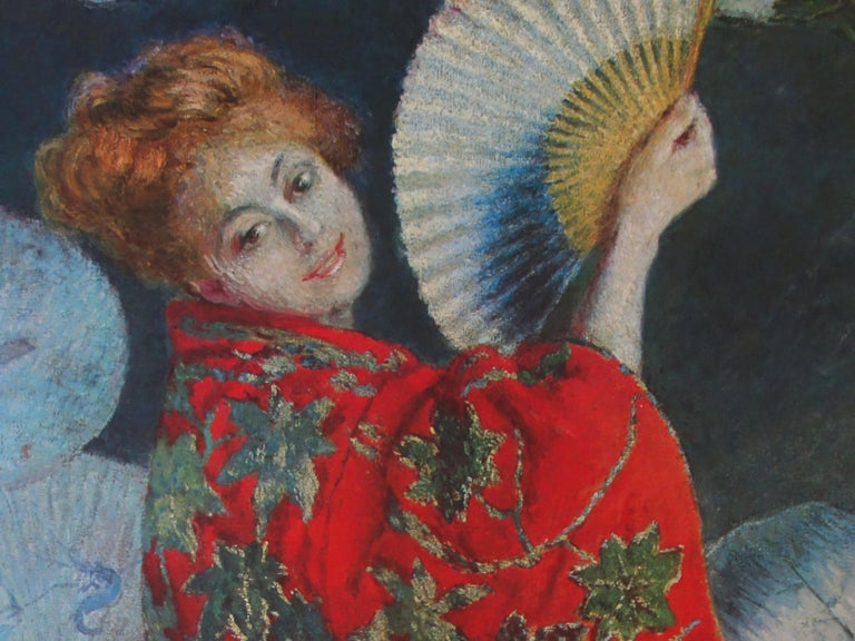 Woman with the Fan - Vintage exhibition poster - 1972 For Sale 1