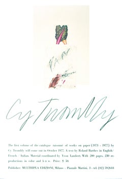 Cy Twombly's Poster - Vintage Offset Poster After Cy Twombly - 1977