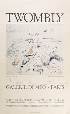 Cy Twombly's Poster - Vintage Offset Poster After Cy Twombly - 1989