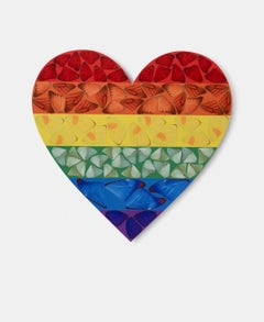 H7-3 Rainbow Butterfly Heart