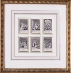 18th Century Set of six etchings relating to marriage, probably Polish