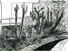 Cactus garden - Framed Print