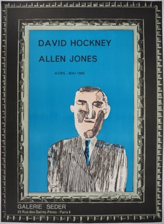 David Hockney and Allen Jones at Gallery Seder - Lithograph