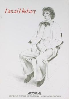 "David Hockney-Artcurial-30"" x 21""-Lithograph-1979-Pop Art-Gray-man"