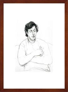 """David Hockney - """"Gregory holding his Glasses, October 22"""" - framed art print"""