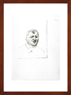 """David Hockney - """"Self-Portrait, 2001"""" - unique lithograph - ready-to-hang"""