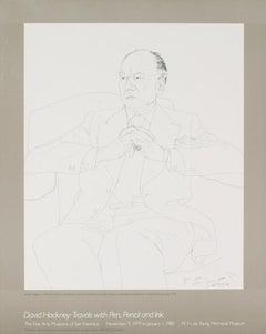 "Sir John Gielgud-21.25"" x 17""-Lithograph-Pop Art-Black & White"