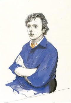 Gregory Evans, Los Angeles. 18th September - Framed Print - David Hockney