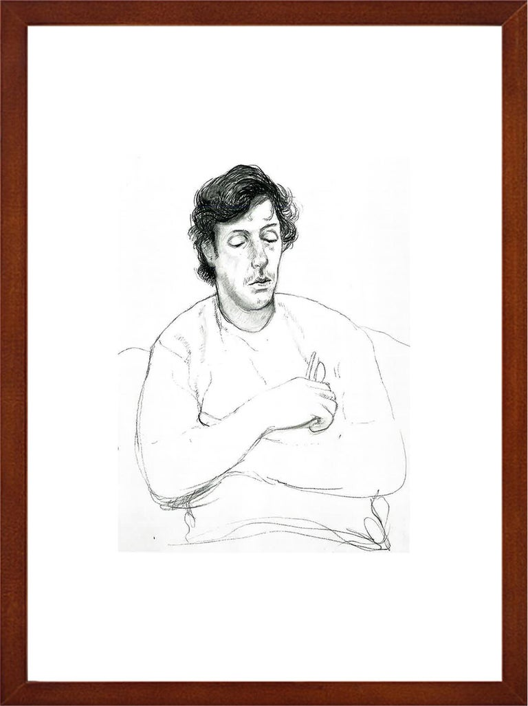 Gregory holding his Glasses, October 22 - Framed Print - David Hockney - Modern Photograph by (after) David Hockney