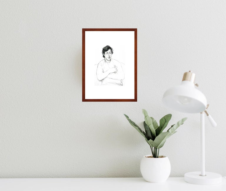 Offset lithography after David Hockney Ready-to-hang including frame and passe-partout.