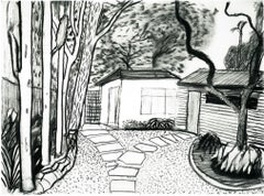 Guest house front garden II - Framed Print