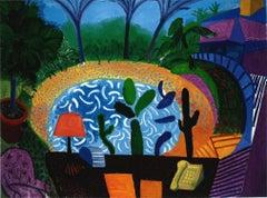 My garden in L.A. - Framed Print - David Hockney