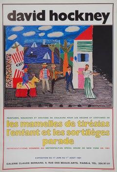 New York Metropolitan Opera House : Tirésias - Original Vintage Poster (1981)