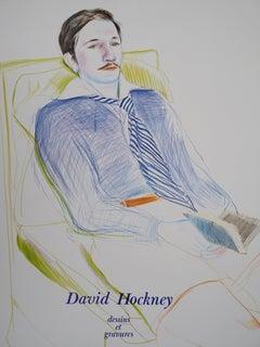 Portrait of Reading Man - Original Vintage Poster (1975)