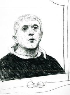 Self-Portrait, March 2 - Framed Print - David Hockney