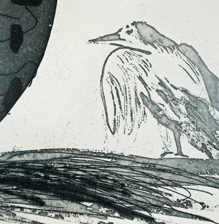 Vintage David Hockney Poster Galerie der Spiegel 1970 (Boy in an Egg) with bird  For Sale 1