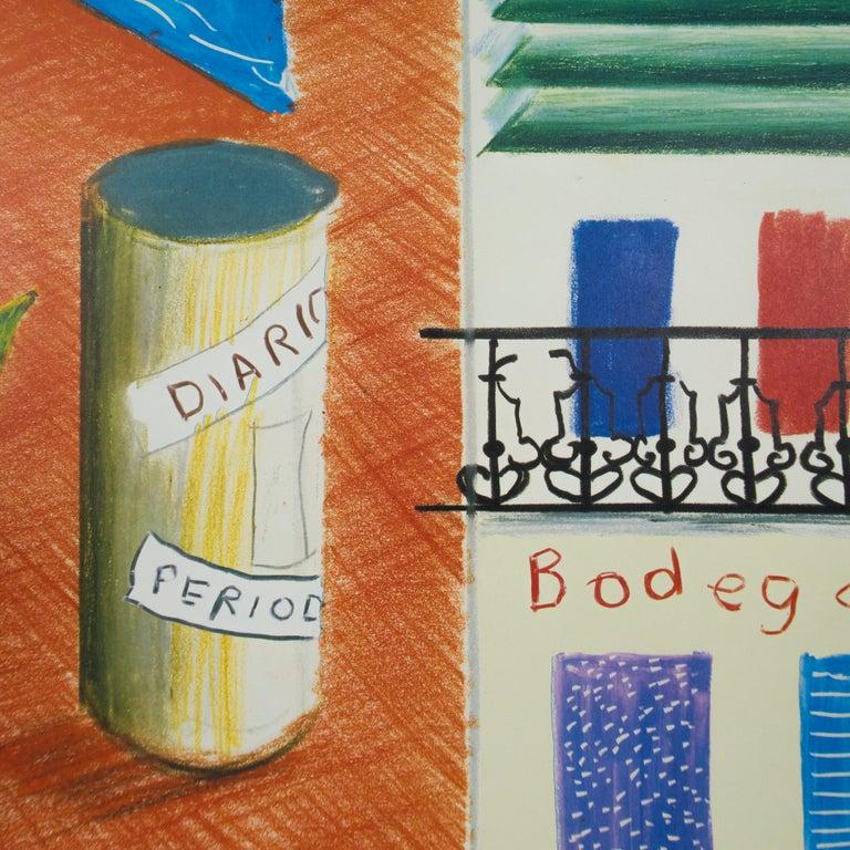 Vintage David Hockney Poster Miami New World Festival of Arts 1982 palm trees - Print by (after) David Hockney