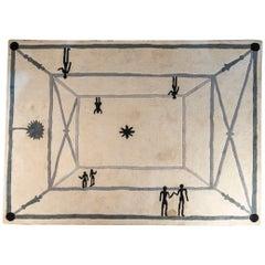 """After Diego Giacometti, Carpet """"La Rencontre"""", circa 1984, France"""