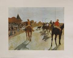 Le Champ de courses (Paris Jeu De Paume)-Poster. Printed in Italy.