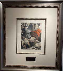 """""""Ludovic Halevy finds Madame Cardinal in Dressing Room"""" etching by Edgar Degas"""