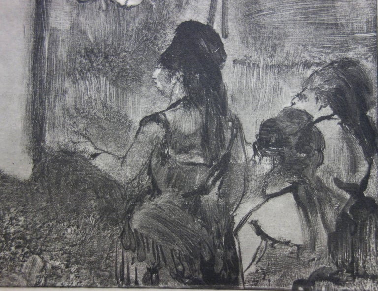 Edgar DEGAS (after) Three Women in a Saloon  Original etching and aquatint On Rives vellum 25 x 32 cm (c. 10 x 13 inch) In the early 1920s, Ambroise Vollard (the great art seller, editor of Picasso (Suite Vollard), Cezanne, Renoir or Georges