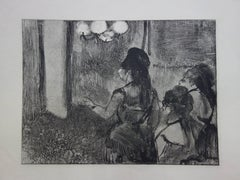 Three Women in a Saloon - Original etching