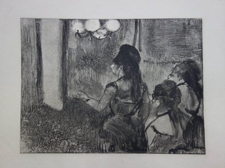(after) Edgar Degas Figurative Print - Three Women in a Saloon - Original etching