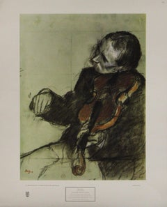Violinist Seated, Study-Poster. New York Graphic Society.