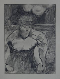 Whorehouse Scene : A Gorgeous Woman - Original etching