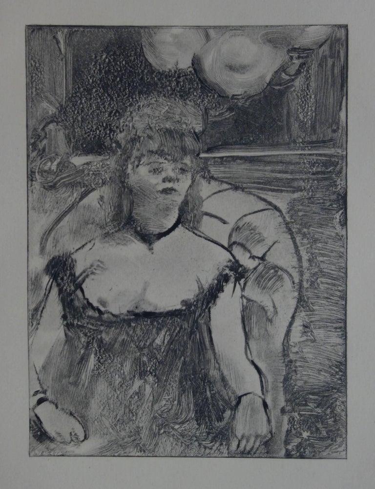 (after) Edgar Degas Figurative Print - Whorehouse Scene : A Gorgeous Woman - Original etching