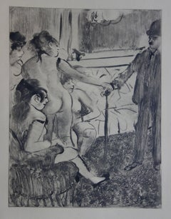 Whorehouse Scene : A Shy Client - Original etching